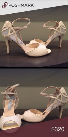 "Charlotte Mills ""April"" bridal shoes Beautiful, hand made bridal shoes perfect for your wedding day! Simple, sophisticated, and very comfortable. charlotte mills  Shoes Heels"