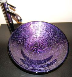 1000 images about i love purple on pinterest purple for Purple glass bathtub