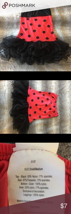 ✨Lady Bug Costume Dress 🐞 ✨Size: Small/Medium (runs small and short) ✨Lady Bug Dress (no wings) ✨Small Snag in Bust area ✨Cute paired with Leggings and Heels for Halloween Other