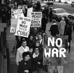 In 1962 the world was on edge, worried that the Cuban missile crisis -- a standoff between the U.S. and the former Soviet Union -- could end in nuclear war.