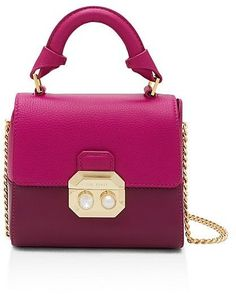 128c43e935d1 Ted Baker Lady Crystal and Faux-Pearl Small Leather Satchel Handbags -  Bloomingdale s