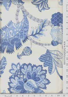 online fabric, lewis and sheron, lsfabrics Throw Pillows, Blue Chair, Dream Furniture, Velvet Furniture, Tapestry, Fabric, Floral Prints, Fabric Design, Master Bedrooms Decor
