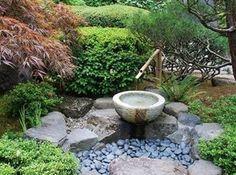Gartengestaltung Bilder-Asiatischer Garten mit Teich und ...