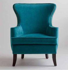 world-market-teal-modern-wingback-nailhead-trim-velvet-chair.jpg (432×441)