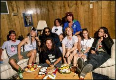 Pearl Jam and Soundgarden backstage during Lollapalooza at Shoreline Amphitheater in Mountain View, CA. Pearl Jam, Jeff Ament, Matt Cameron, Temple Of The Dog, Audio, The Black Keys, Rockn Roll, Eddie Vedder, Rock Music