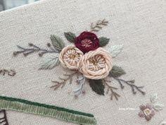 """4월 달별키트 """"앤의 정원"""" : 네이버 블로그 Embroidered Roses, Tableware, Dinnerware, Tablewares, Dishes, Place Settings"""