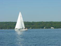 Sailing in Door County, Wisconsin