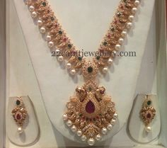 Jewellery Designs: Nakshi Finish Mango Chain with CZs Antique Jewellery Designs, Gold Earrings Designs, Gold Jewellery Design, Necklace Designs, Handmade Jewellery, Gold Jewelry Simple, Silver Jewellery Indian, Fashion Jewellery Online, Necklaces