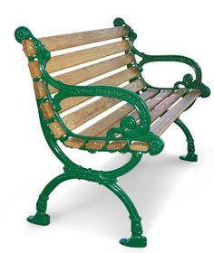 The Victorian park bench is the complete package. Wrought Iron Bench, Cast Iron Bench, Victorian Benches, Victorian Homes, Park Benches, Garden Benches, Painted Benches, Vintage Bench, Outdoor Chairs