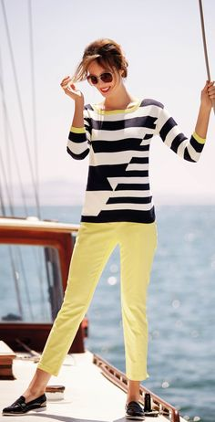 cruise wear for real women - http://www.boomerinas.com/2013/02/12/cruise-clothing-nautical-stripes-sailor-style/