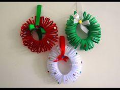 Easy Christmas Wreath Tutorial ~ DIY Christmas Room Decor ~ X'mas Decor Ideas with Paper.
