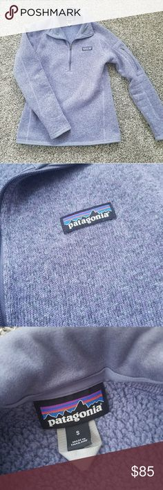 Patagonia Purple Gray Better Sweater Used but is in great condition! I don't want to part with it, but it doesn't fit me. My loss will be your gain! Patagonia Sweaters