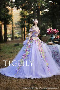 【ビオラ Viola】ウェディングドレス_ウエディングドレス_カラードレス_Aライン_プリンセス(c158)