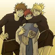 Kankuro, Temari and their little brother.