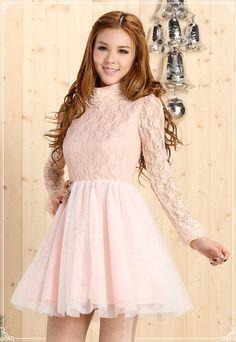 Mango Doll - Elegant Ruffle Collar Lace Dress , $38.00 (http://www.mangodoll.com/all-items/elegant-ruffle-collar-lace-dress/)