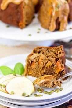 Almost Too Healthy Thanksgiving Dessert: Spicy Pumpkin and Apple Bundt Cake