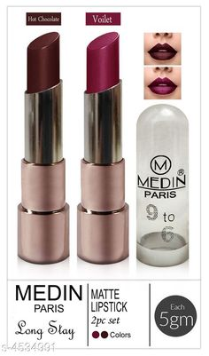 Checkout this latest Lipsticks Product Name: *Medin Paris Copper Body Matte Me Lipstick Combo* Product Name: Medin Paris Copper Body Matte Me Lipstick Combo Brand Name: Medin Paris Finish: Matte Color: Combo Of Different Color Type: Stick Multipack: 2 Country of Origin: India Easy Returns Available In Case Of Any Issue   Catalog Rating: ★3.9 (195)  Catalog Name: Medin Paris Copper Body Matte Me Lipstick Combo Vol 4 CatalogID_655593 C171-SC2005 Code: 632-4534991-705