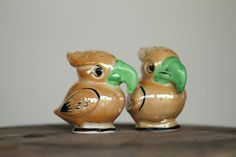 Vintage Lusterware Parrot Salt & Pepper Shakers - Made in Japan, $10.00