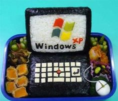 Funny pictures about Sushi Windows XP. Oh, and cool pics about Sushi Windows XP. Also, Sushi Windows XP photos. Windows Xp, L'art Du Sushi, Sushi Art, Japanese Food Art, Japanese Lunch Box, Sushi Design, Food Design, Creative Food Art, Creative People
