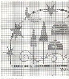 Schema punto croce Peaceful Forest 02