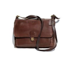 Rich Chocolate Brown COACH Leather Briefcase