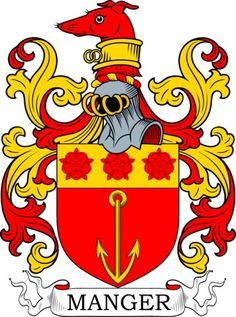 Manger Family Crest and Coat of Arms