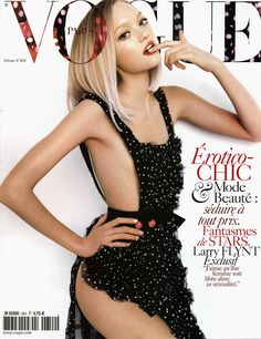 Gemma Ward on the cover of Vogue Paris February 2005