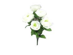 Spring Floral 16'' Ranunculus Bush-Cream & Green
