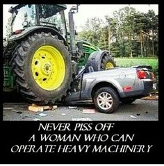 Amen to that ! LOL John Deere, Ford, Massey Ferguson tractors.... CAT, Kumatsu front end loaders.....they'll all do the job. Just saying.... :)