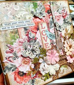 Prima Marketing, Diy And Crafts, Paper Crafts, And So The Adventure Begins, Love Letters, Trust Yourself, Mini Albums, Embellishments, Mixed Media