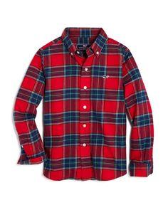 Vineyard Vines Boys' Flannel Tartan Shirt - Sizes S-xl