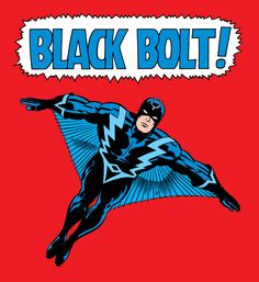 Black Bolt art by Jack Kirby 1968.
