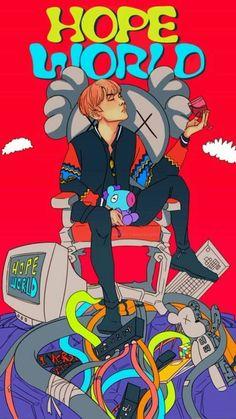 Jhope World Fanart ctto Hoseok Bts, Bts Bangtan Boy, Jhope Bts, Fanarts Anime, Anime Manga, Kawaii, Japon Illustration, Dibujos Cute, Bts Drawings