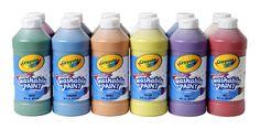 Crayola Non-Toxic Washable Tempera Paint - 1 Pint - Set of 12
