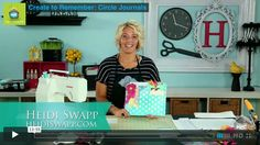 "Create to Remember: Circle Journals  Join me as I show you how to construct your own ""Circle Journal"" from five Color Magic File Folders for you and a group of friends to share and inspire one another. Join @Heidi Swapp on MyCraftChannel.com"