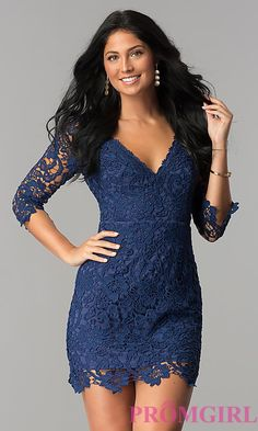 Lace Graduation Short Party Dress with Sleeves Cheap Graduation Dresses, Inexpensive Prom Dresses, Cheap Party Dresses, Lace Homecoming Dresses, Hoco Dresses, Semi Dresses, Cheap Dress, Formal Dresses Under 100, Unique Formal Dresses