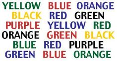 try to read the colors