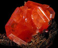 Rare  Wulfenite Crystal by David Michaels.