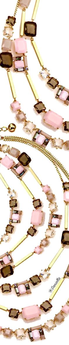 #KateSpade #Neapolitan #Necklace The Colour Of Spring, You Are Wonderful, Pin Logo, Brown Shades, Powder Pink, Pink Brown, Peach Colors, Pink Fashion, Color Themes