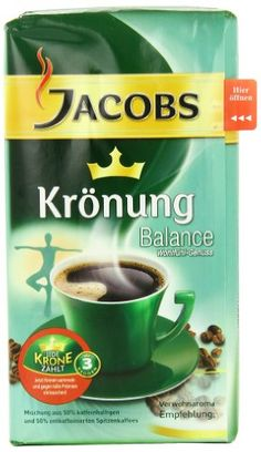 Jacobs Coffee Kronung Balance, Net Wt Oz (Pack of Ground coffee. world celebrated South and Central American espresso beans. Hot Coffee, Iced Coffee, Coffee Drinks, Fresh Coffee Beans, Ground Coffee Beans, Kauai Coffee, Coffee Label, Coffee Accessories, Phone Accessories