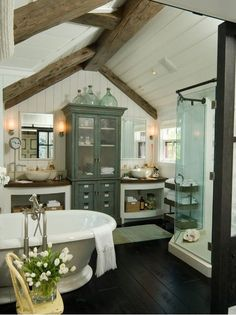 I absolutely LOVE this bathroom! it has a great vintage look to it!