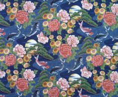 Stoff japanische Motive - KOI Stoff Nr. 140767 - ein Designerstück von rbaudisch bei DaWanda
