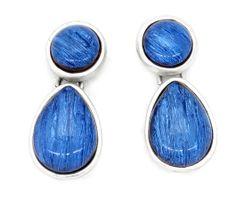 #blue #silver #earring #barcelona