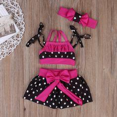 >> Click to Buy << 2017 Summer Kids Baby Girls Tankini Bikini Set Swimwear Swimsuit Bathing Suit Beachwear 3pcs Kids Clothing Set #Affiliate