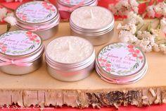 Detalles de invitados bodas velas perfumadas personalizadas. Consultas y encargos: eljaboncasero@gmail.com