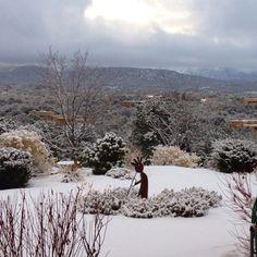 Snowy Santa Fe, New Mexico