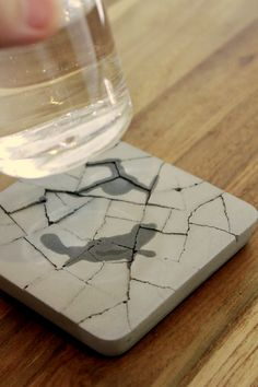 The Kalki'd Cement Coaster is an eco-friendly high water absorbent coaster made of concrete and non-toxic recycled material.