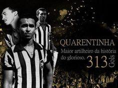 Botafogo de Futebol e Regatas - Quarentinha, the gunner unsmiling. He scored 313 goals being the top scorer in the history of Botafogo.