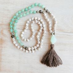 Gratitude Mala 108 Beads/Lotus Seed Mala Necklace/Mala Beads