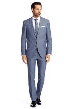 Slim fit kostuum 'Hutson1/Gander' van scheerwol door BOSS